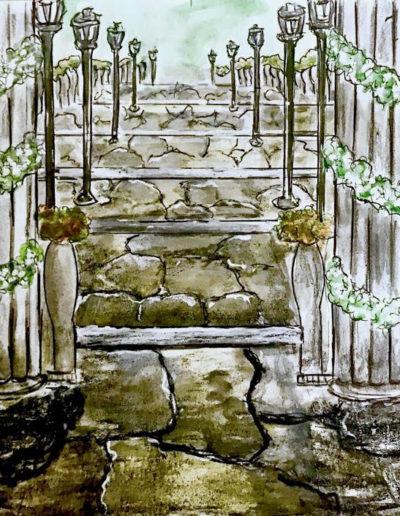 Bozzetto scalinata chiesa